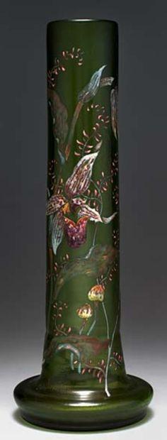 Stangenvase 'Sabot de vénus et coprins', 1892 - Gallé, Emile, Nancy