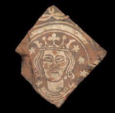 A Nottingham Medieval encaustic tile, 14th century