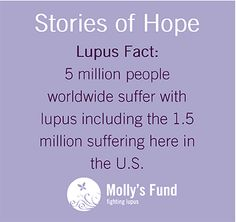 My name is Maria Ignatowski. I am almost 36 yrs old. I've been living with #lupus half my life. The last ten years have been horrible. I found out I had lupus when I gave birth to my only child. She was great.. a month early and just under 4 lbs. I, on the other hand, had a hard time. I had a c-section and started bleeding which is not normal if you have a c-section. Shorty after I had a heart attack and clotting in my liver, which has caused me to have liver disease and kidney failure…