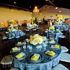 Yellow and Gray Reception