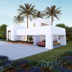 White houses are so pretty to look at. Modern Architecture House, Architecture Design, Residential Architecture, Modern Villa Design, Casas Containers, House Front Design, Facade House, House Exteriors, Home Fashion