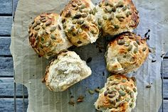 Silvia Colloca's Pumpkin Seed Rolls Cooking Bread, Cooking Recipes, Bread Recipes, Easy Bake Oven, Bread Rolls, Everyday Food, I Foods, Italian Recipes, Holiday Recipes