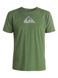 quiksilver, Everyday Logo Tee, Bronze Green - Solid (gqq0)