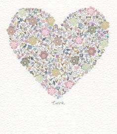 'love'  paint, pen and collage - wedding invite idea #wedding #invitation