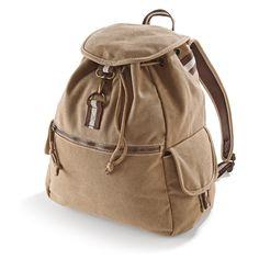 Vintage Canvas Backpack.