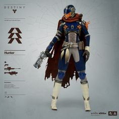 Destiny Hunter Pre-order BEGINS JULY 2016 Bungie and proudly announce the highly anticipated DESTINY HUNTER – the third class of Guardian in Scale Collectible Figure Series from. Destiny Cayde 6, Destiny Warlock, Destiny Hunter, Destiny Bungie, Destiny Cosplay, Female Armor, Pokemon, Female Character Design, Cars