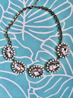 Shoshanna Large Gem Statement Necklace. Love the style of this statement necklace!