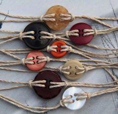 Button bracelet...
