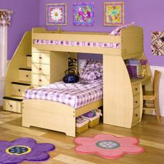 two beds, a desk, and storage?!