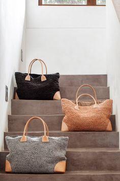 Raffia Leather Bags www.barefootgypsy.com.au