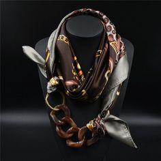 Luxurious Silk Scarf for women. Named after the Goddess Rhea it has a feel of divinity and is simply a treat to your skin. This handmade Scarf Necklace is made with the finest Silk Satin fibers and wi