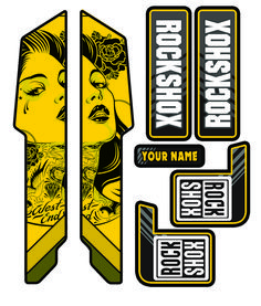 Take a look at some of our Custom Rockshox, Fox suspension, Bos Suspension & X Fusion moutain bike fork decals. Mountain Bike Forks, Mountain Biking, Moutain Bike, Mtb Bike, Bmx, Bicycle, Bike Stickers, Text Effects, Car Wrap