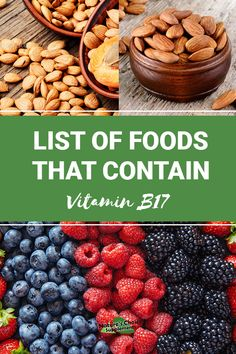 what foods rich in b17 founds in diet