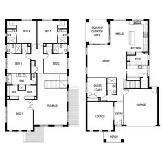 Offering the ultimate in luxurious living, Breamle. Family House Plans, Bedroom House Plans, New House Plans, Dream House Plans, House Floor Plans, Fairhaven Homes, Double Storey House Plans, Large Open Plan Kitchens, House Worth
