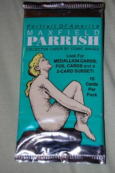 Maxfield Parrish Portrait of America Trading Cards Pack by Comic Images | eBay...who knew?