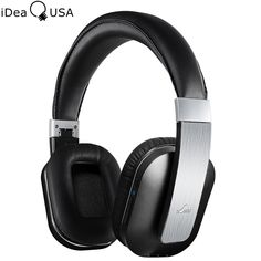 iDeaUSA S204 Wireless Bluetooth Headphone Apt-x Foldable Over-Ear Earphone with AUX & MIC Super Bass Passive Noise Cancelling