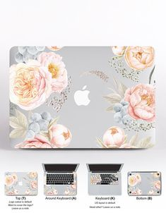 Pink Mac Air 11 Case Valentine HP Laptop Decals Floral MacBook Keyboard Cover MacBook Pro Case 2016 Flowers MacBook Air 13 inch Skin – Easy to apply. – Laptop skins are made of high quality matte Macbook Keyboard Cover, Macbook Pro Case, Mac Laptop, Laptop Decal, Laptop Computers, Macbook Air Decals, Hp Laptop Stickers, Hp Laptop Skin, Macbook Desktop