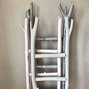 Для дома и интерьера ручной работы. Ярмарка Мастеров - ручная работа декоративная лестница-вешалка. Handmade.