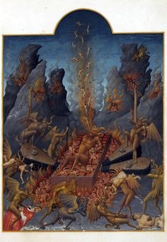 Limbourg brothers, Hell Les Tres Riches Heures - a prayer book of the Duc de Berry, 1416.