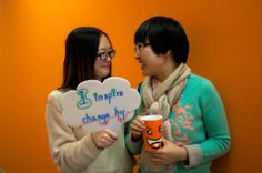 Lucy and Stacey, Interns, #VMware #China #WomensDay #InspiringChange