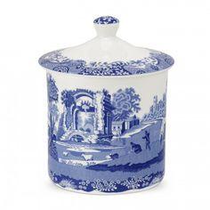 Spode Blue Italian Storage Jar - Blue Italian -Spode UK