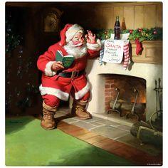 What Is Christmas, Christmas Art, Vintage Christmas, Christmas Ideas, Father Christmas, Christmas Images, Christmas Decorations, Coca Cola Santa, Coca Cola Christmas