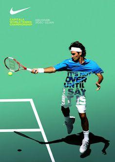 網球場的路上。to the tennis court: 球星們的海報 www.goods-brand.com