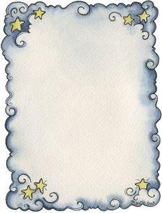 Anjos - Galu - Picasa Web Albums - blue swirls and stars frame Page Borders Design, Border Design, Printable Frames, Printable Paper, Free Printable, Borders For Paper, Borders And Frames, Doodle Design, Paper Frames