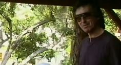 George Harrison at Dave Stewart's house in Los Angeles where he & the other Wilburys worked on songs for Volume I in 1988