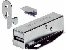 LOFT DOOR TOUCH CATCH Hatch Push - Attic/Cupboard Latch c/w fitting instructions