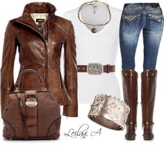 """""""Winter white vest with bling bling jeans!"""" by leilani-almazan on Polyvore..LOVE THE JACKET!!!!!!!!!"""