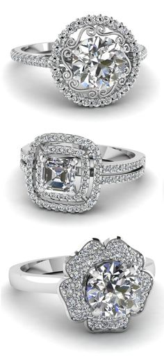 Halo Diamond Engagement Ring <3