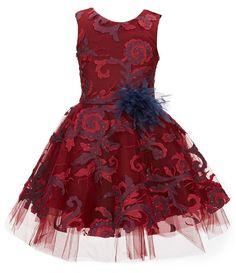 86db3a03477 Zoe Big Girls 7-16 Ava Masquerade Ball Swirl Dress