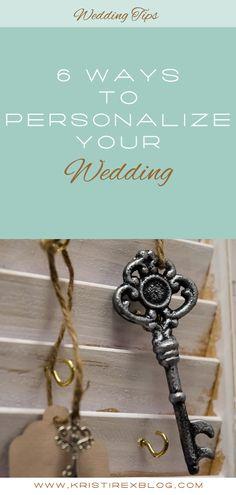 6 Ways to Personalize Your Wedding - Kristi Rex Photography