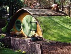 Hobbit Playhouse  I want my kids to have as cool of a clubhouse as I did growing up!