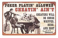 Rustic Old West Vintage Poker No Cheating Man Cave Sign Wall DEcor Plaque 16X10 OWI http://www.amazon.com/dp/B00N9N9FH4/ref=cm_sw_r_pi_dp_G0RGub0ABZH46