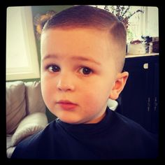 I'm pretty sure my kid would freak out if I tried to use the clippers on him but this is a cute and clean haircut