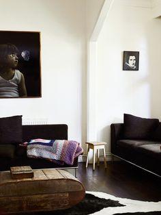 dark furniture + flo