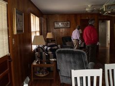How to Update Wood Paneling in your house! I'll need this most likely in the future.