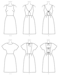 Sewing patterns for fashion clothing, crafts and home decorating. Dress sewing patterns, evening and prom sewing patterns, bridal sewing patterns, plus costume and cosplay sewing patterns. Vintage Dress Patterns, Mccalls Sewing Patterns, Sewing Projects For Kids, Extra Fabric, Fashion Sketches, Dressmaking, Dresses With Sleeves, Linen Dresses, Outfits