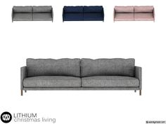 - Lithium Christmas Living - Sofa Found in TSR Category 'Sims 4 Sofas & Recliners'