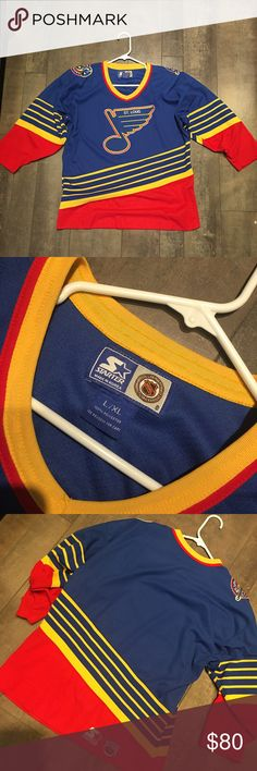 ad1af2a05 Vintage Starter St. Louis blues hockey jersey Vintage hockey jersey .. Kids  large