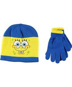 "SpongeBob Squarepants Boys ""Stripe-Thru"" Beanie « Clothing Impulse"