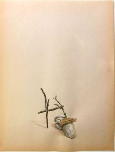 Tamara Feijoo, Entropía (kippel), témpera sobre papel.