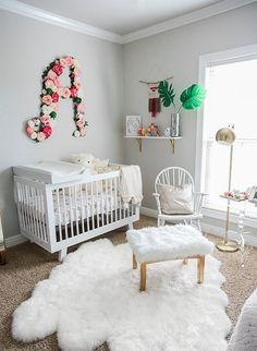 Plush Pink U0026 White Nursery   Inspired By This