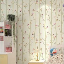 Tree  Colourful Leaves Mural  Wallpaper Roll For  KIds Room  child background DZK61(China (Mainland))