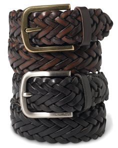 Classic design done right. Pair this braided leather belt from Nautica with your…