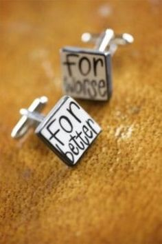 sweet cuff-links for the groom
