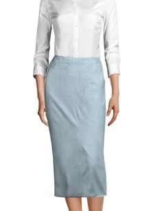 Midi skirts are the perfect addition to your Spring wardrobe ☀️ Made to YOUR measurements! Midi Skirts, Linen Skirt, Tailored Suits, Business Outfits, Classy Outfits, Suits For Women, Perfect Fit, High Waisted Skirt, Surefire