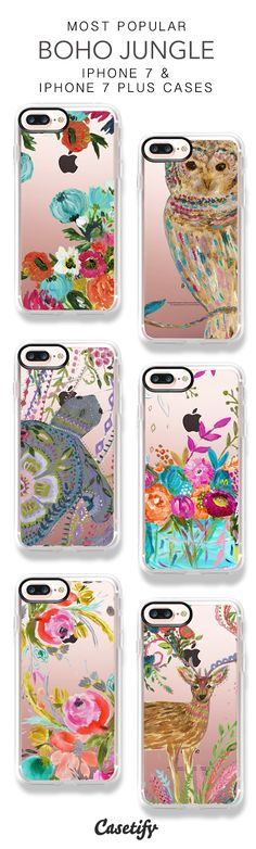 Most Popular Boho Jungle iPhone 7 Cases & iPhone 7 Plus Cases here > https://www.casetify.com/barij/collection